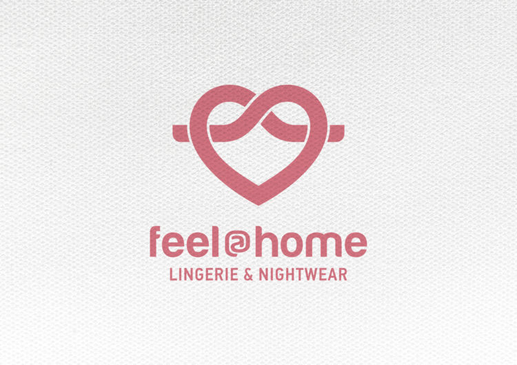 Feel at home lingerie and nightwear logo design